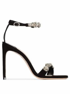 Sophia Webster Aaliyah crystal-embellished sandals - Black