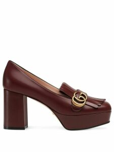 Gucci decollete in pelle loafers - Red