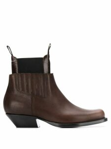 Mm6 Maison Margiela panelled ankle boots - Brown