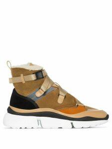 Chloé Sonnie high-top sneakers - Brown