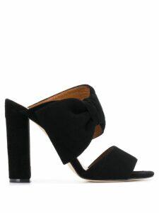 Paris Texas bow mules - Black