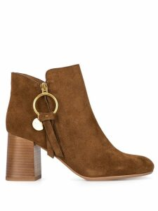 See by Chloé Louise medium ankle boots - Brown