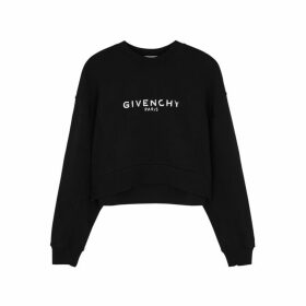 Givenchy Logo-print Cropped Cotton Sweatshirt