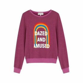 Wildfox Dazed And Amused Brushed Jersey Sweatshirt