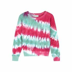Wildfox Tie-dye Terrycloth Sweatshirt