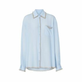 Burberry Ring-pierced Silk Crepe Shirt