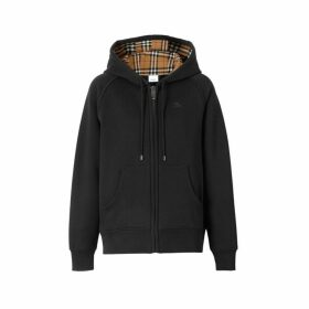 Burberry Vintage Check Detail Jersey Hooded Top