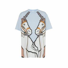 Burberry Unicorn Print Cotton Oversized T-shirt