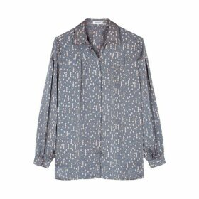 Equipment Bouvier Printed Matte Satin Shirt