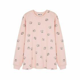 McQ Alexander McQueen Pink Swallow-print Cotton Sweatshirt