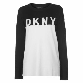DKNY DKNY Long Sleeve Crew Neck Knitted Jumper Womens