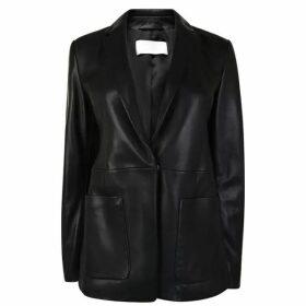 Boss Sanewton Leather Blazer