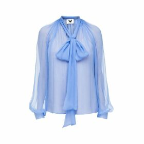 DIANA ARNO - Luisa Silk Blouse In Sky Blue