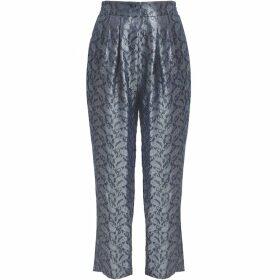 GISY - Metal Paisley Silk Jacquard Pants