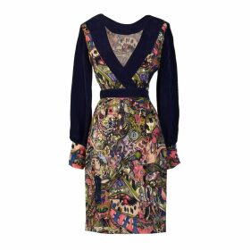 Sarvin - Aria Hand-Painted Persian Print Mini Dress