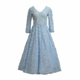 MATSOUR'I - Blue Jasmin Cocktail Dress