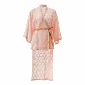 By Moumi - Shirley Kimono Salmon Pink Lace