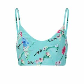 Sophie Cameron Davies - Mint Blossom Silk Crop Top