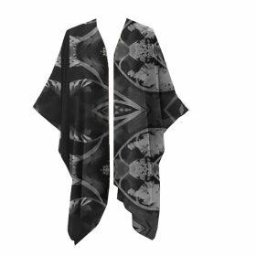 GISY - Vietnam Mandala Turquoise Silk Kaftan No.8