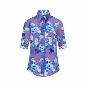 Sophie Cameron Davies - Purple Blossom Silk Shirt