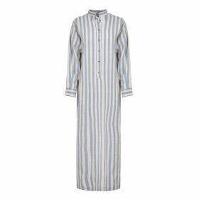 A-line Clothing - Long Blue Stripe Overshirt Dress
