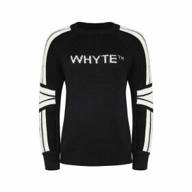 Whyte Studio - The Moto Jumper Black & White