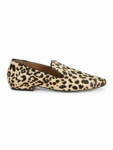 Havi Leopard-Print Calf Hair & Leather Loafers