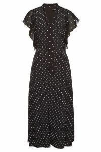 Karl Lagerfeld Polka Dot Midi Dress