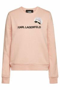 Karl Lagerfeld Karl Dots Ikonik Embroidered Cotton Sweatshirt