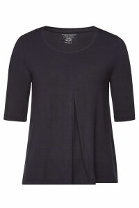 Majestic Jersey Top with Cropped Sleeves