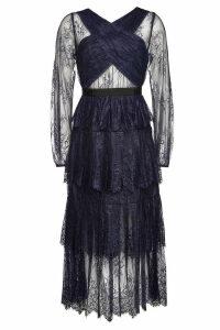 Self-Portrait Maxi Dress with Lace