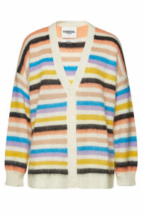ESSENTIEL ANTWERP Striped Cardigan with Mohair and Wool
