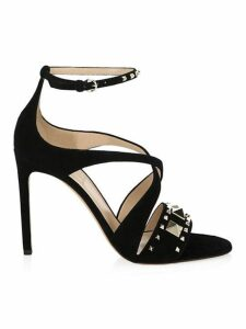 Lovestud Suede Sandals