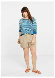 Fine-knit striped sweater