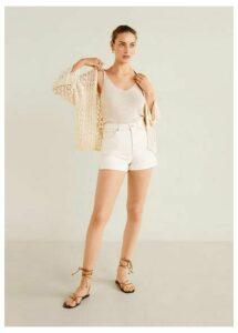 Cotton crochet cardigan