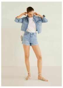 Pocketed denim jacket