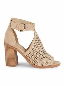 Vixen Cutout Suede Block Heel Sandals