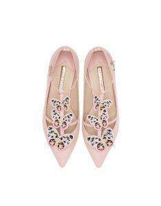 Sophia Webster Designer Shoes, Sophia Pink & Multi Riva Flat Ballerinas