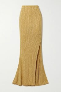 Brunello Cucinelli - Metallic Mesh, Leather And Suede Sneakers - Forest green