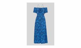 Bardot Snake Print Silk Dress