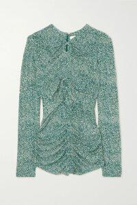 Jimmy Choo - Dudette 100 Crystal-embellished Suede Sandals - Black