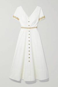 Aquazzura - Forever Marilyn 105 Cutout Tasseled Elaphe Pumps - Snake print