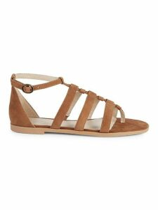 Contribution Strappy Suede Toe-Ring Sandals