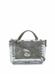 Zanellato embroidered perspex box bag - Grey