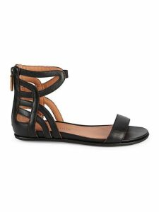 Larisa Cutout Leather Sandals