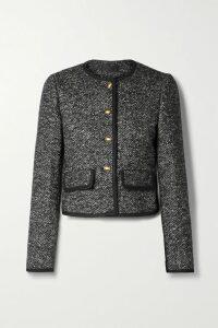 Aquazzura - Savannah 120 Metallic Leather Espadrille Wedge Sandals - Gold