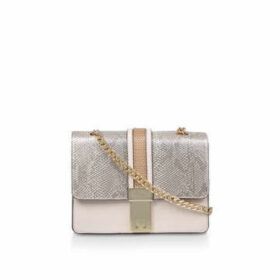 Carvela Casey Chain Cross Body - Beige Snake Print Cross Body Bag