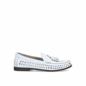 KG Kurt Geiger Benedict - White Woven Loafers