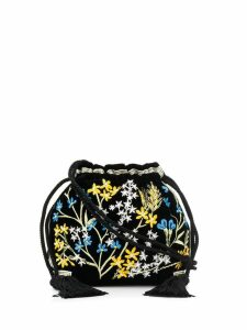 Etro embroidered mini bucket bag - Black