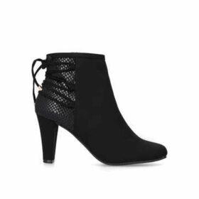 Carvela Comfort Tash - Black Cone Heel Ankle Boots